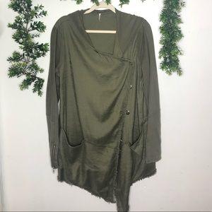 Free People | Asymmetrical Wrap Sweater